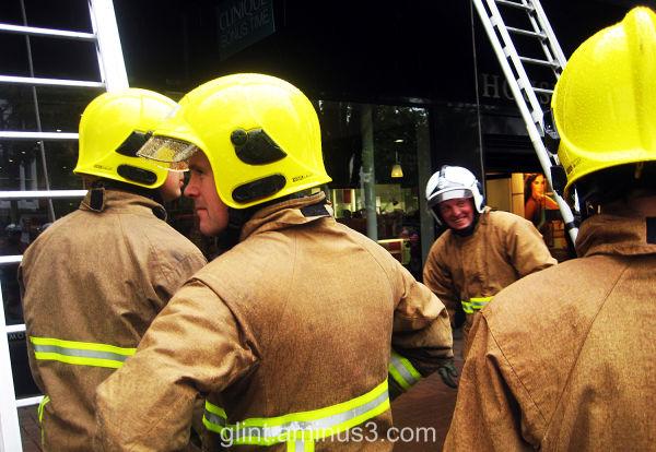 firemen on exercise