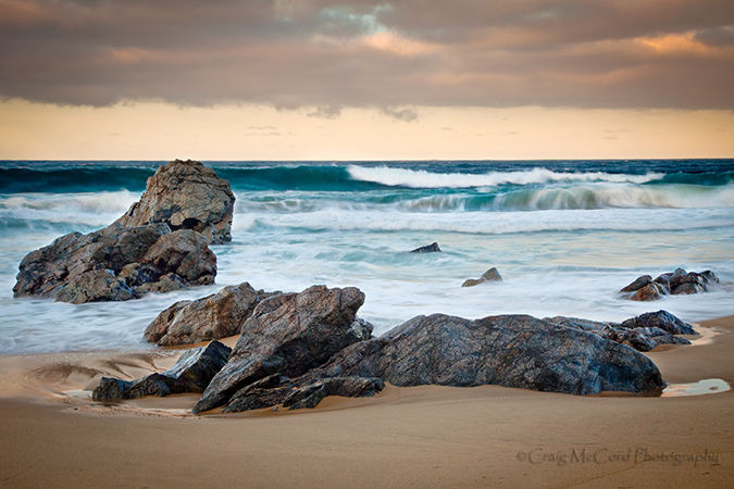 Carrapata Beach and early morning surf