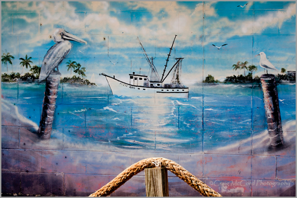 Mural on Singleton's Seafood Shack, Mayport, Fl
