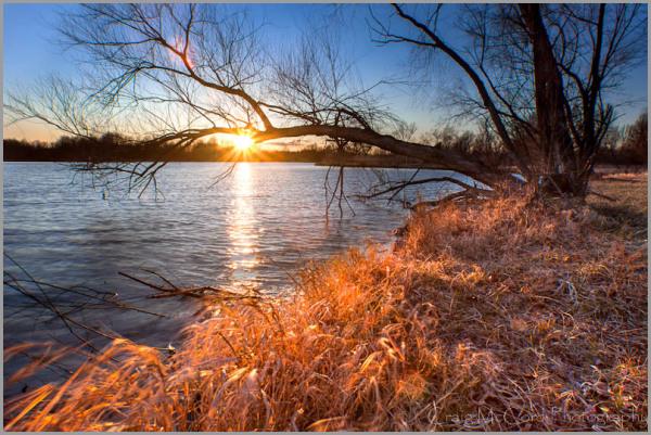 Sunset at James A Reed Wildlife Area, Missouri