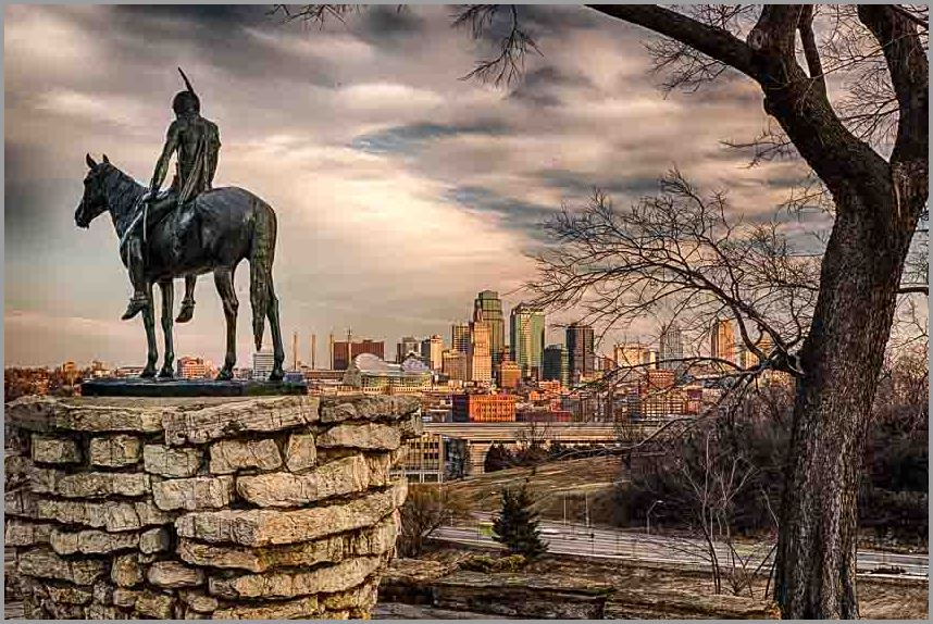 The Scout watches over Kansas City