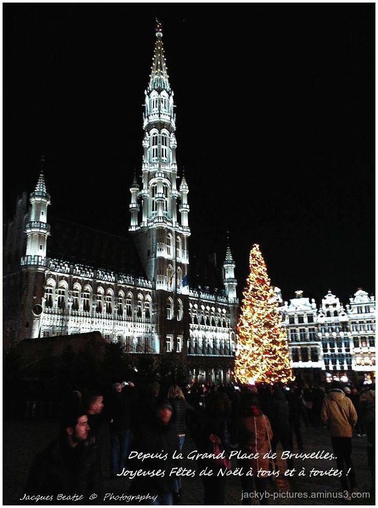 Depuis la Grand-Place de Bruxelles..