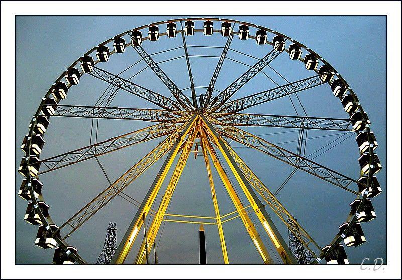 la grande roue de Noël place de la Concorde