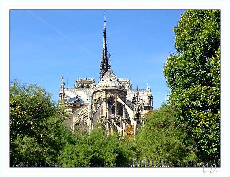 Le chevet de Notre Dame de Paris