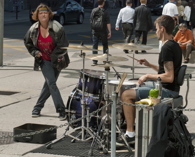 Toronto urban drummer dance