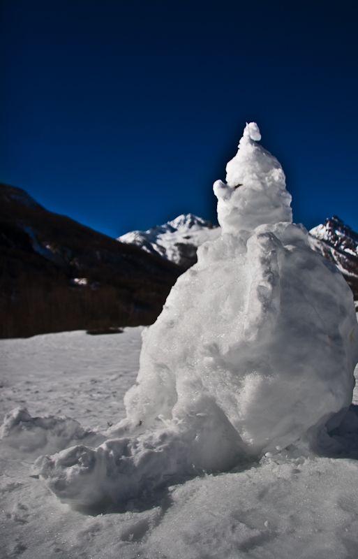 Et enfin a  la montagne ...