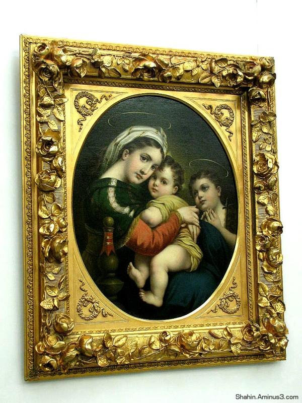 Madonna - Painting by Kamal ol Molk