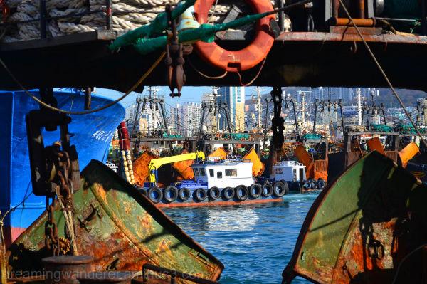 boat, shipping yard, harbour, busan, south korea