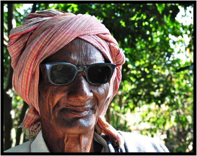 tribal old man photo session....