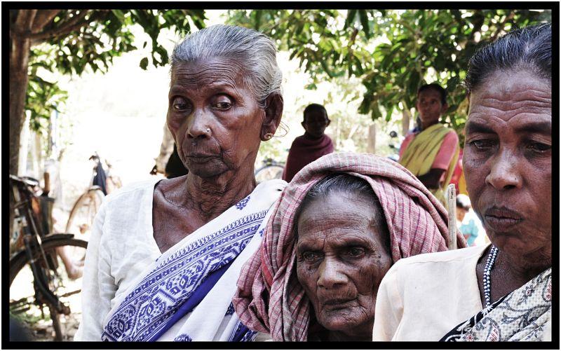 santhali tribal  oldwomen...