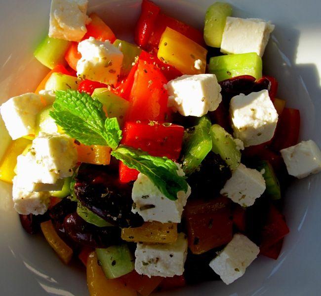 Colourful Greek salad