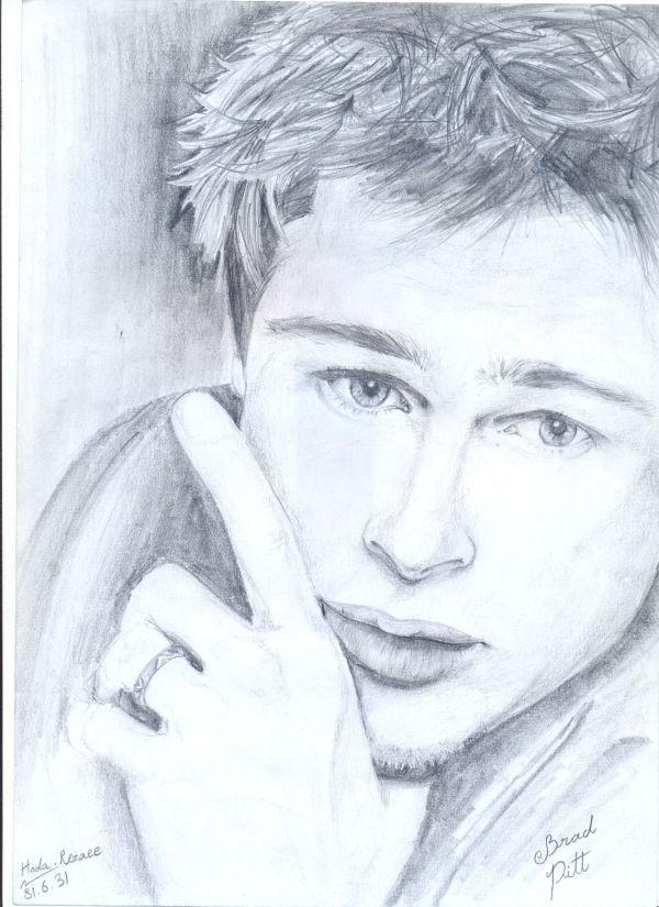 Sketching Brad Pitt