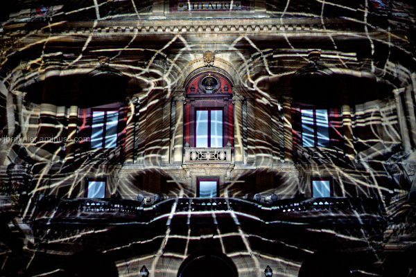 8th december light festival in Lyon Celestins