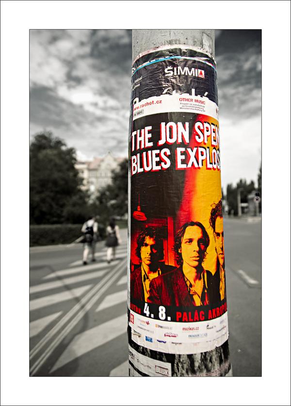 Blues band sticker