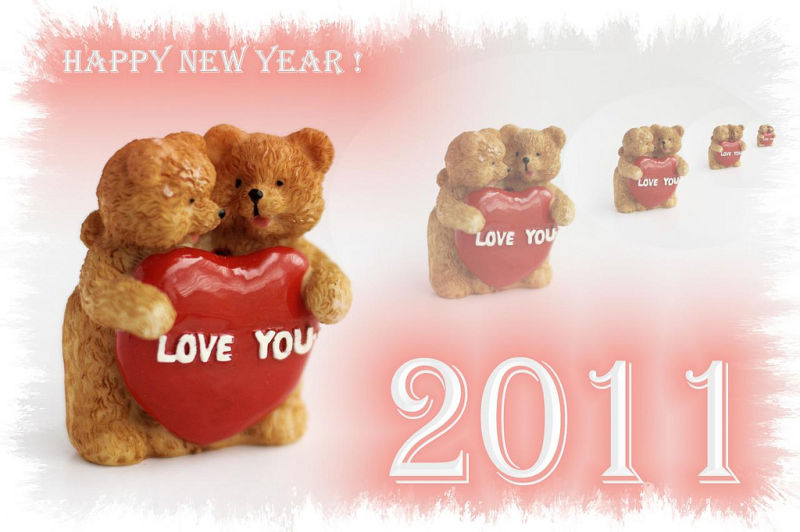 wish you all to be loved ! Happy 2011 !
