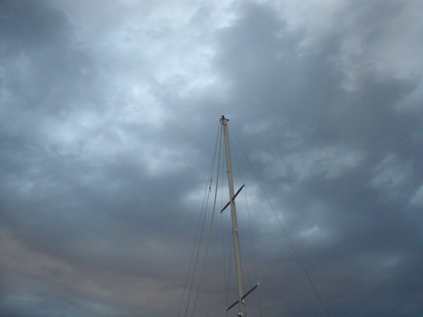 Mast and Clouds