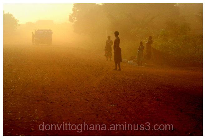 Ghana landscapes,rural Ghana