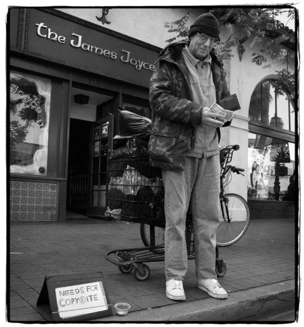 man wants money on street