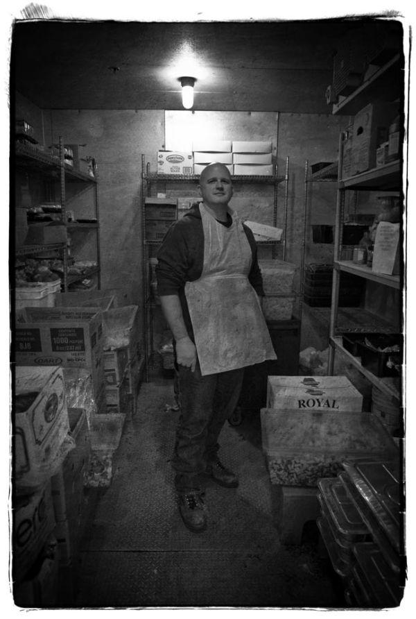 worker in  food locker