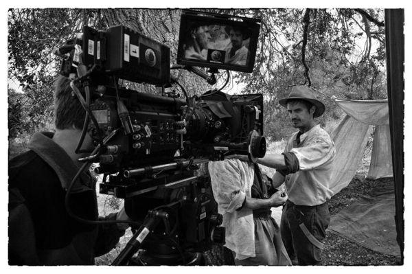movie being filmed in field