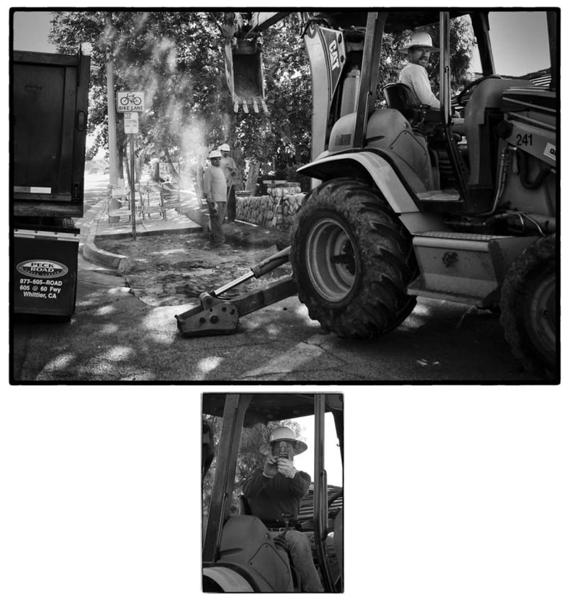 men working in street