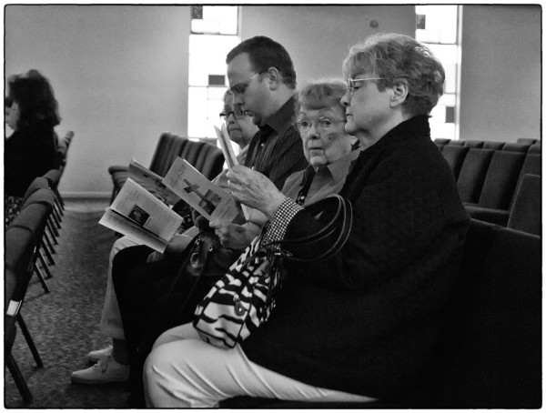 people in a church