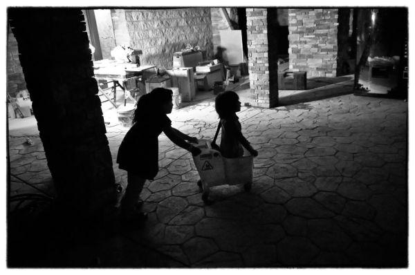 girls with mop bucket