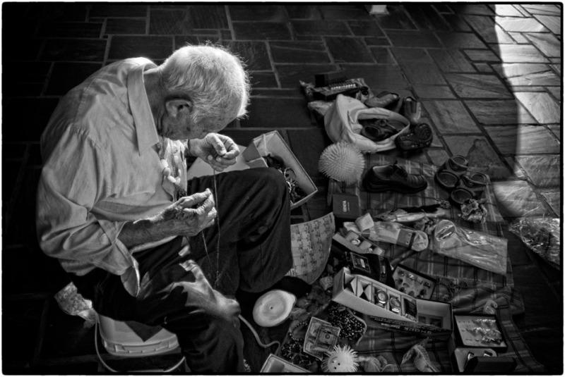 man selling pants
