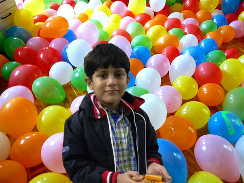 Surrounded by Baloons