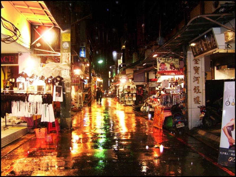 Taipei Night Market in Spring