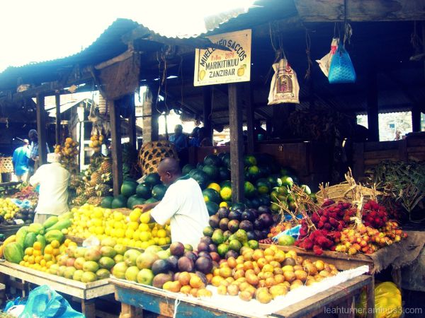 the fruit stand.