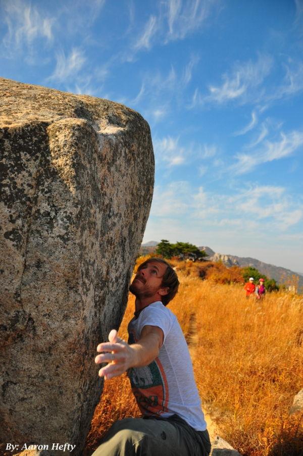 Luke Bouldering at Nabi Bawi