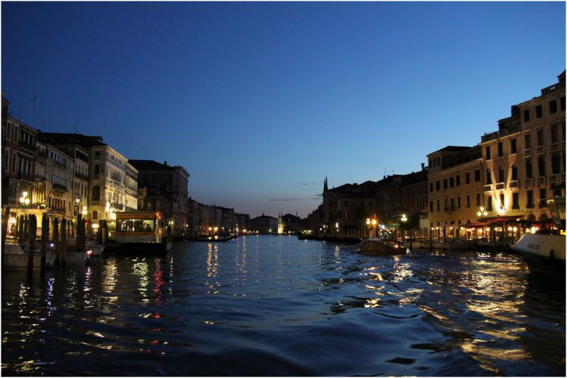 Canal grande by night, Venice