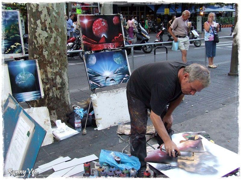 Street Artist  ( La Rambla)