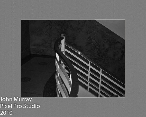 Stairwell in Black and White