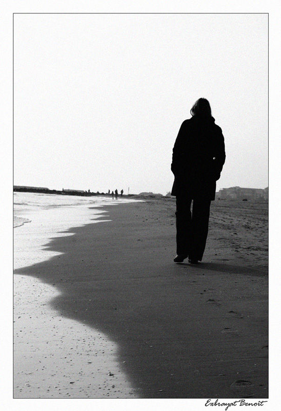 balade sur une plage du Cap d'Agde