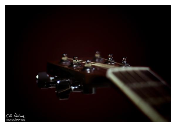 Guitare et macro photo