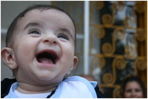 baby's laughing