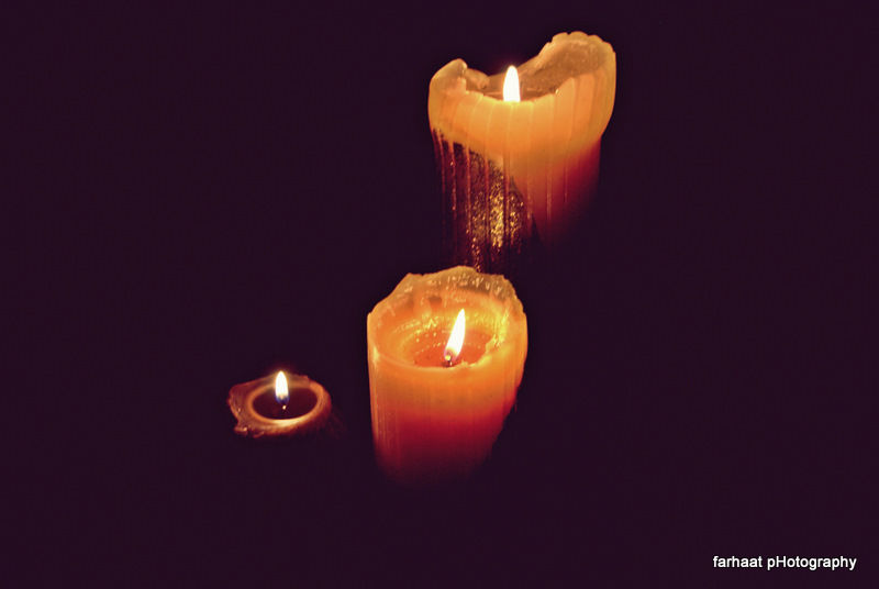 candels, earth hour 1