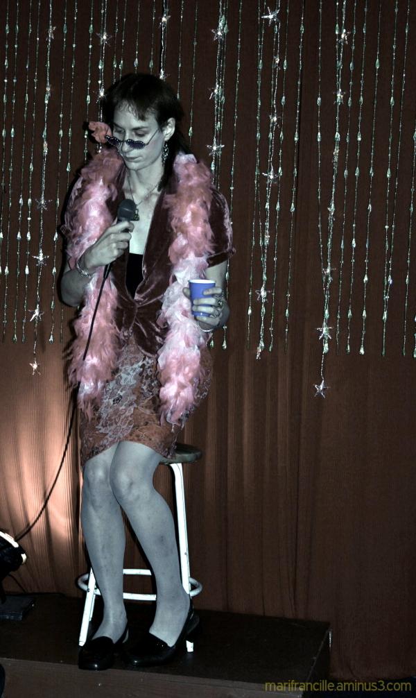 Lady Astor recites poetry, San Francisco
