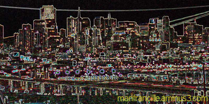 san francisco, skyline,tweeked