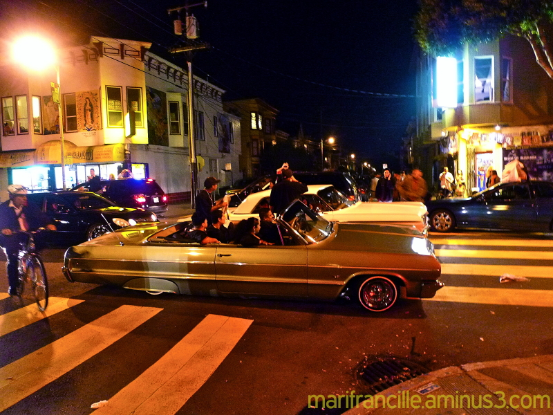 the mission sf, low riders, impala, SF Giants,