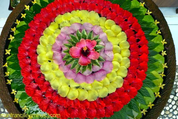 Ubud, Bali, Flower offering