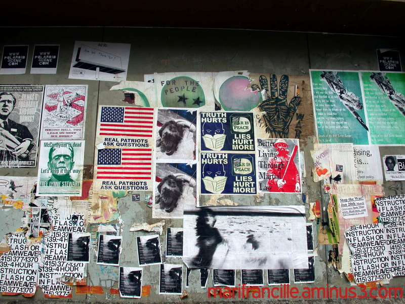 street art, san francisco, anti-war posters, 2006