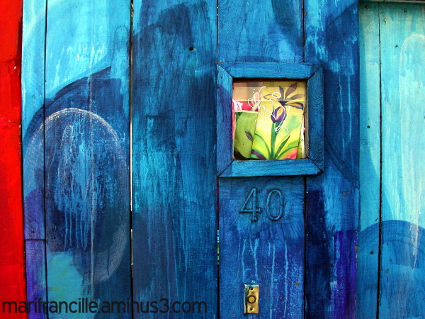 blue door, mission murals, san francisco