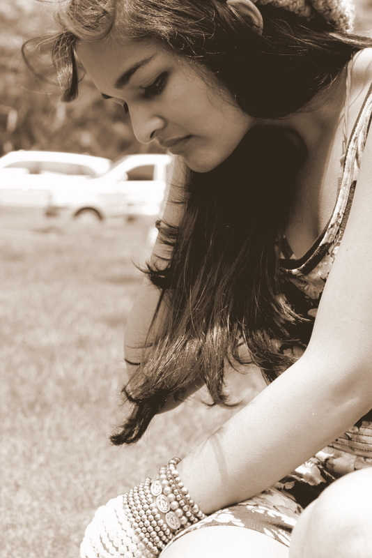 Kavita searching for something