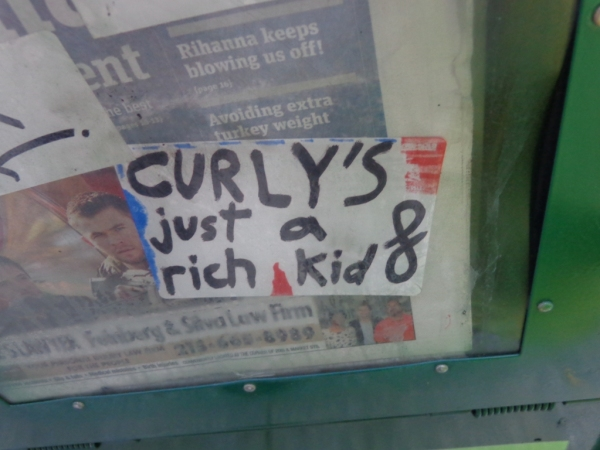 Curly's just a rich kid