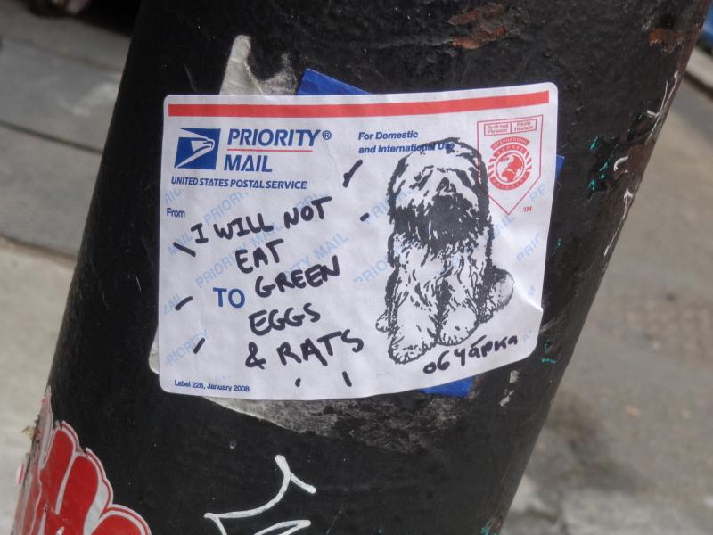 I will not eat green eggs & rats