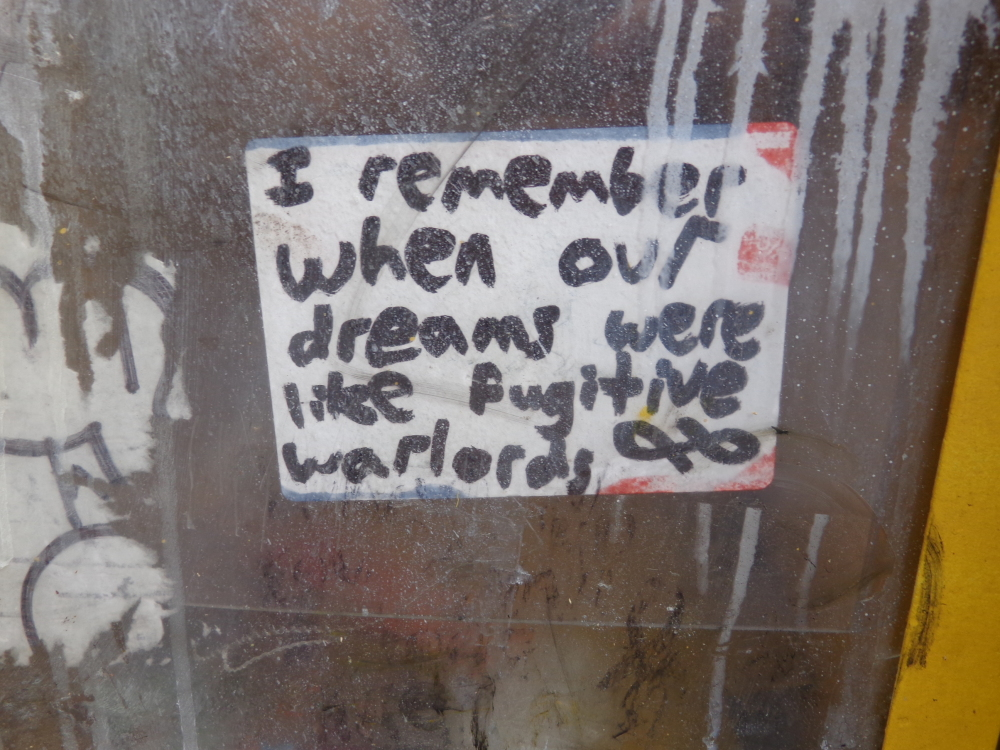 our dreams were like fugitive warlords