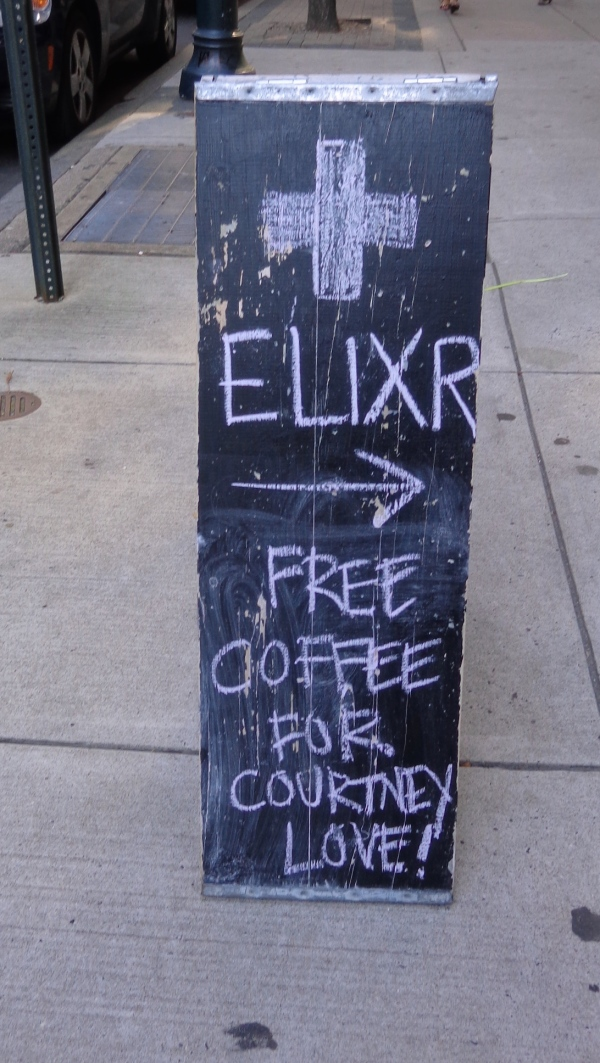 Free coffee for Courtney Love